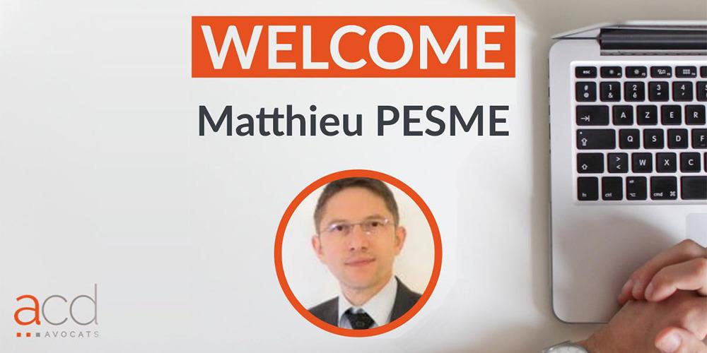 Bienvenue à Matthieu PESME
