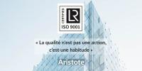 Renouvellement de notre certification ISO 9001