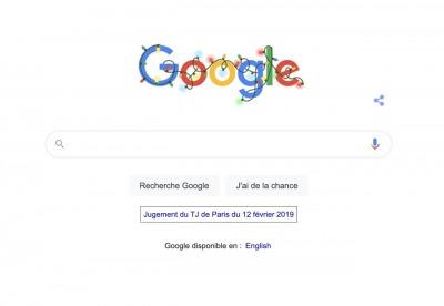 jugement Google sur les conditions d'utilisation et les règles de confidentialité