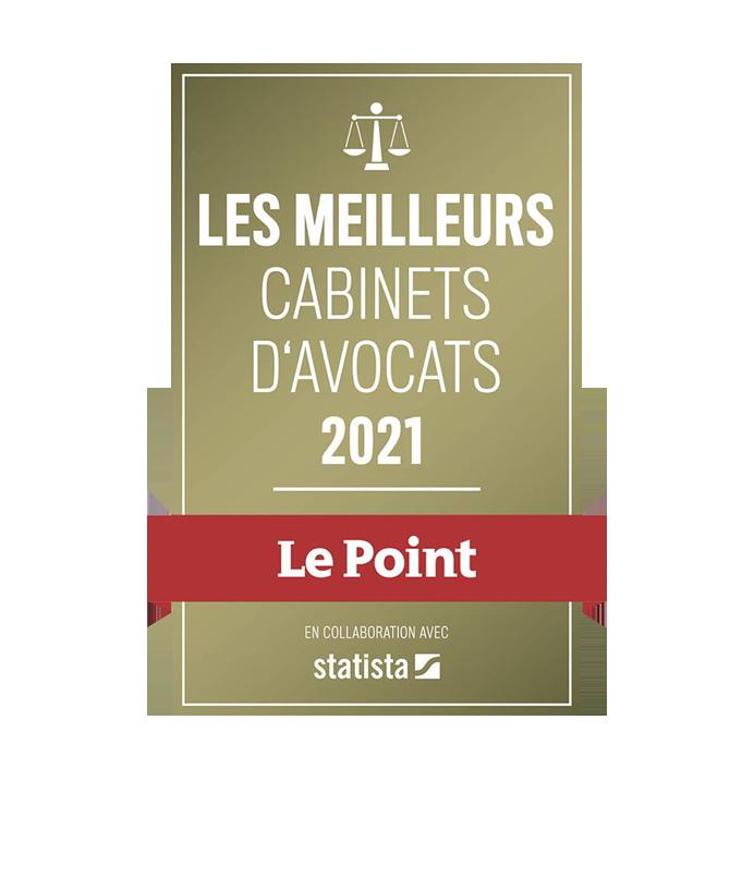Le Point - Les meilleurs cabinets d'avocats 2021